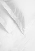 Sheraton Textiles - Egyptian cotton oxford satin st duvet cover set - white 400tc