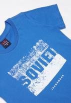 SOVIET - Boys logo tee - blue