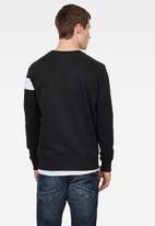 G-Star RAW - Graphic long sleeve sweats - black