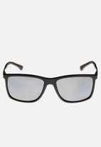 Emporio Armani - Polar grey lens with black rubber sunglasses 58mm - black