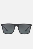 Emporio Armani - Grey lens with black sunglasses 56mm - black