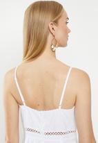 Cotton On - Woven serene strappy mini  - white