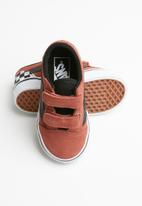 Vans - Vans old skool shoes - seude redwood/checker