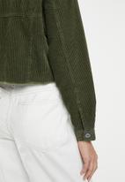 Cotton On - Cord hem release shacket - khaki
