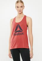 Reebok - Wor supremium logo tank top - red
