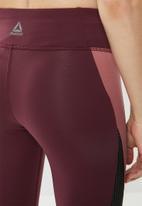 Reebok - Reebok lux tights - burgundy