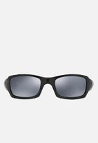 Oakley - Five squared black iridium polarized lens 54mm - black