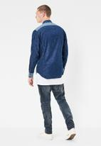 G-Star RAW - 3301 pm shirt long sleeve - blue