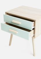 Sixth Floor - Alva pedestal - blue & natural