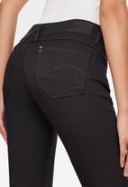 G-Star RAW - Lynn zip mid skinny ankle jean - black