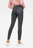 G-Star RAW - Ashtix zip high super skinny ankle jeans - charcoal