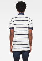 G-Star RAW - Fascia short sleeve polo - navy & white
