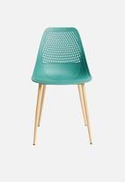 Sixth Floor - Dax chair - teal