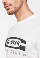 G-Star RAW - Graphic 4 r short sleeve tee - white