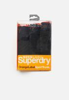 Superdry. - Orange label sport 3 pack trunks - black