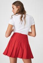Factorie - Short sleeve rib henley - white