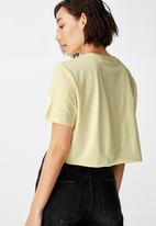 Factorie - Short sleeve raw edge - yellow