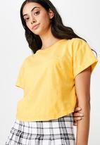 Factorie - Short sleeve crop T-shirt - yellow