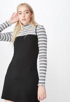 Factorie - Ponte dress - black