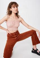 Cotton On - Chelsea shirred cropped cami - pink