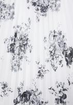 edit - Pleated maxi skirt - black & white