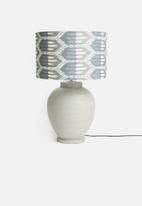 Sixth Floor - Rock art lampshade - charcoal