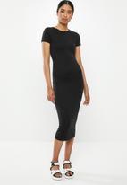 Missguided - Basic bodycon midi dress - black