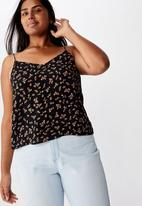 Cotton On - Curve astrid cami Victoria floral - black & red