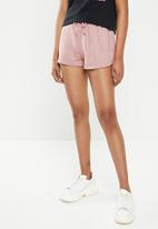 Missguided - Tie waist runner shorts - pink