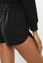 Missguided - Tie waist runner short - black