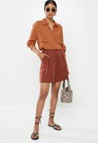 Missguided - Safari shirt - brown