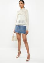 Missguided - Victoriana lace blouse - cream