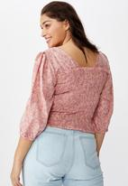 Cotton On - Curve puff sleeve - pink