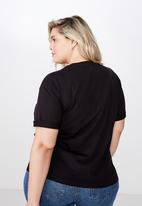 Cotton On - Curve relaxed boyfriend tee - black