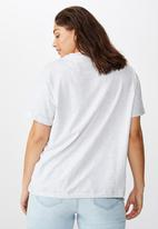 Cotton On - Curve relaxed boyfriend tee - grey