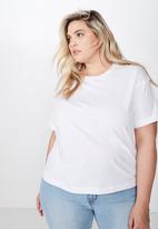 Cotton On - Curve relaxed boyfriend tee - white