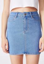 Factorie - Malibu stretch skirt - blue
