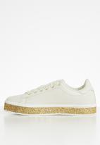 Sissy Boy - Star dust glitter sole sneaker - neutral