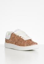Sissy Boy - Glitter flatform sneaker - gold
