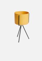 Present Time - Pedestal plant pot set - ochre yellow