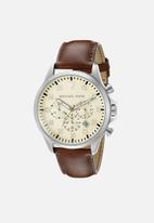 Michael Kors - Analog watch 0 jwl leather strap - dark brown