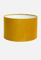 Sixth Floor - Velvet barrel lampshade - mustard