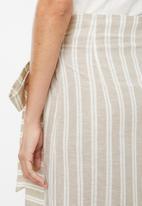 edit - Linen blend skirt - beige & cream