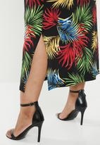 edit Plus - Cowl front classic dress - multi