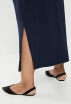 edit Plus - Cowl front classic dress - navy