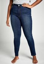 Cotton On - Curve Adrianna skinny jeans - blue