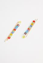 Superbalist - Multi stone hair clip set - multi
