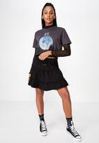 Factorie - Tiered skirt - black