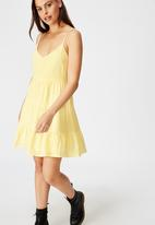 Factorie - Textured tiered dress - yellow