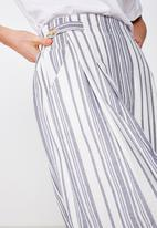 Cotton On - Luna button culotte Lizzie stripe - blue & white
